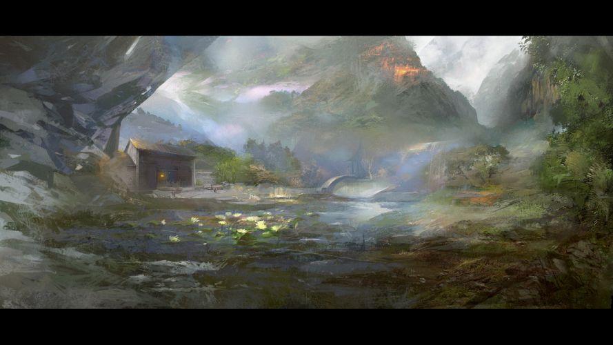 flowers landscape lsltmr original scenic wallpaper