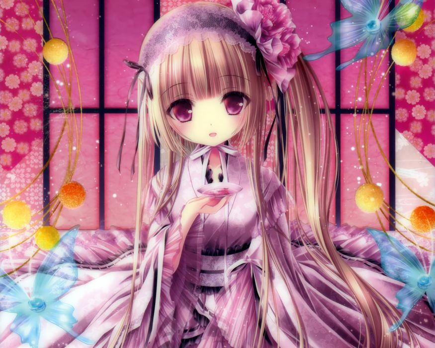 japanese clothes lolita fashion long hair original sake tinkerbell tinkle wallpaper