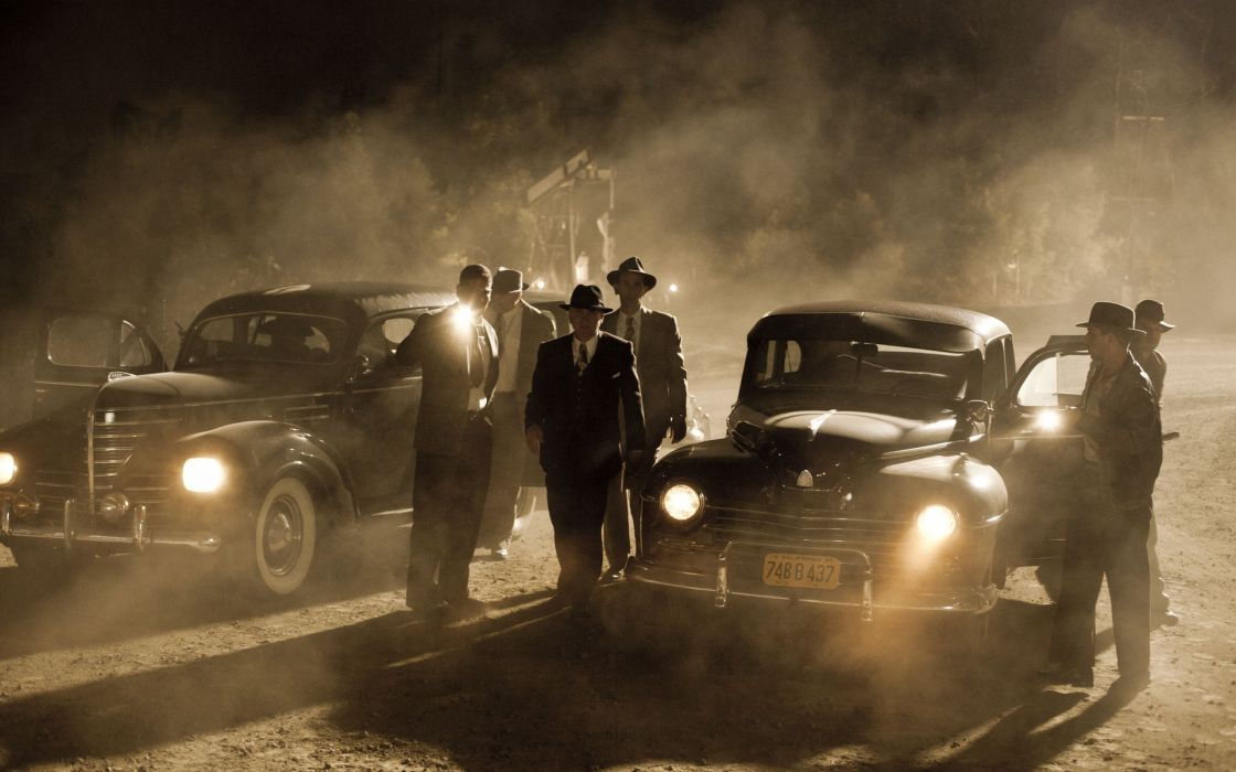 L_A_ Noir television series retro cars classic men males actors police night lights dark wallpaper