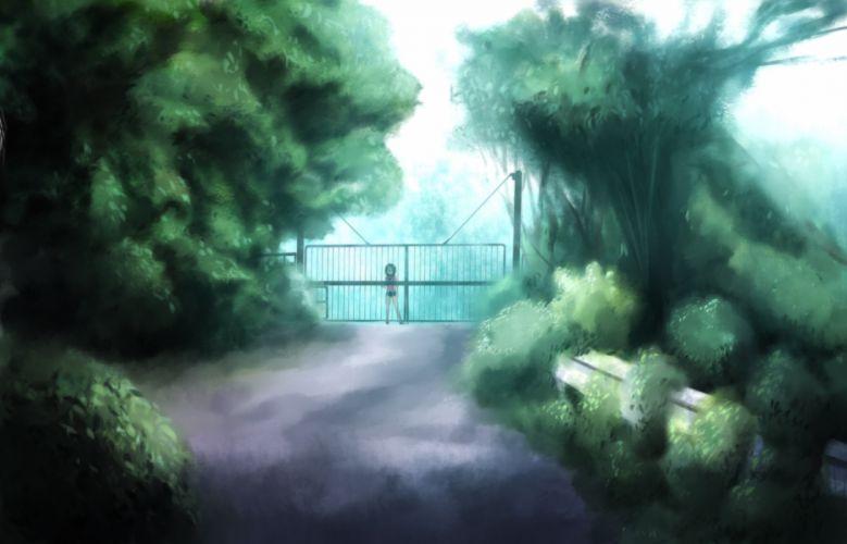 landscape onibi (foxhound4185) original scenic tree wallpaper