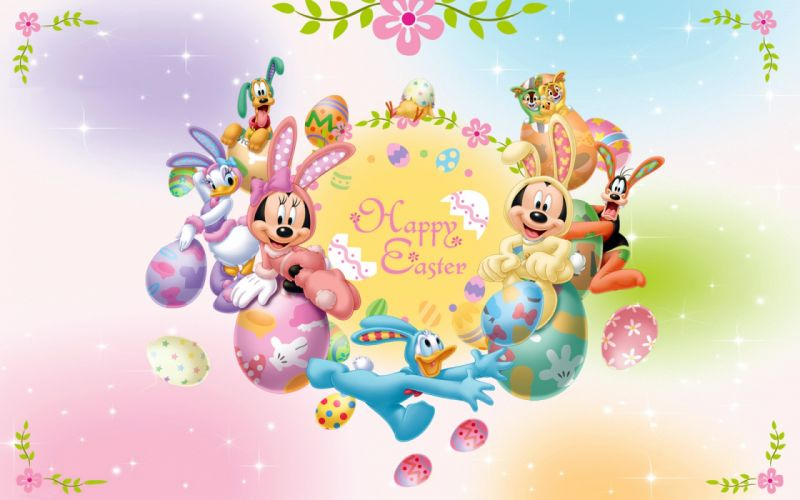 mickey mouse and friends easter-1920x1200 wallpaper