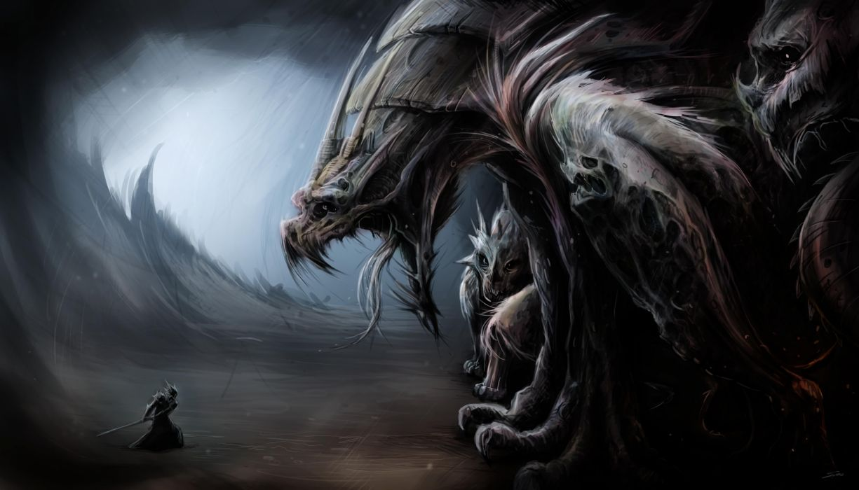 Monsters Fantasy dragons warrior wallpaper
