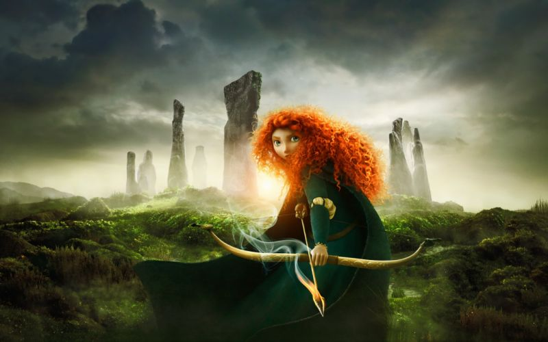 movies fantasy art Brave Princess Merida wallpaper