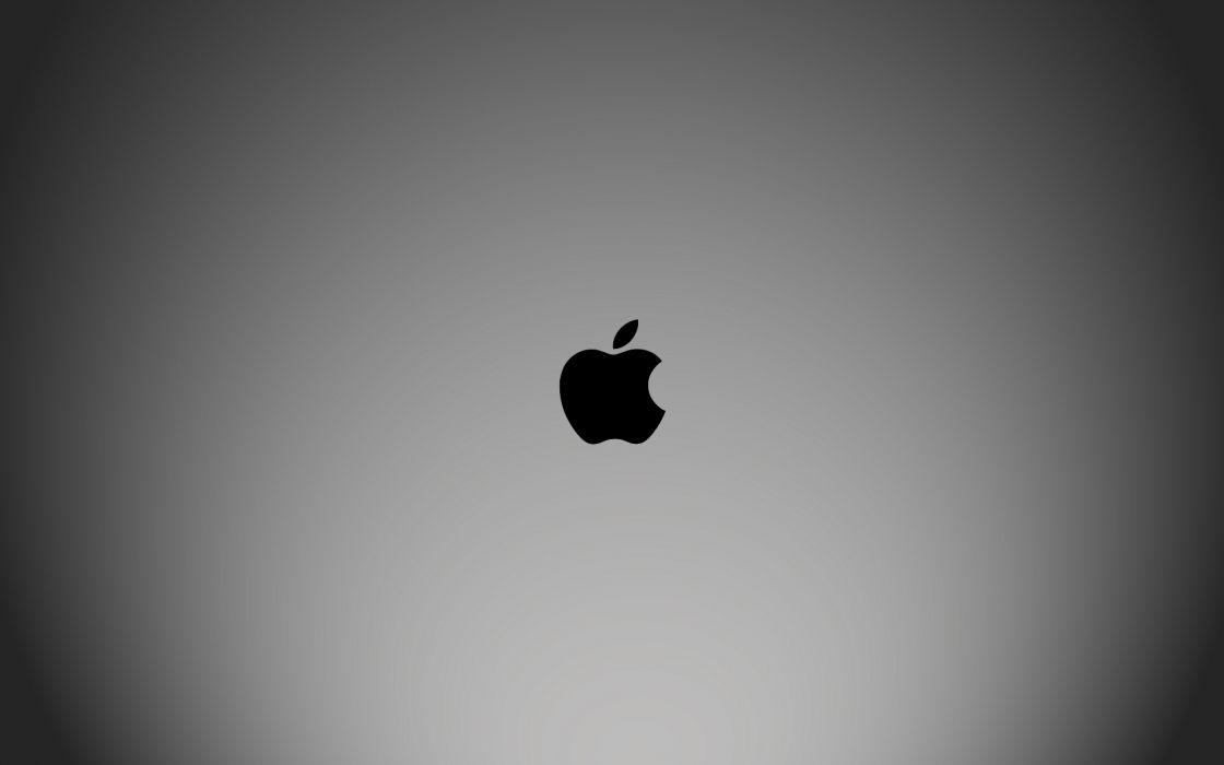 minimalistic Apple Inc_ Macintosh logos wallpaper