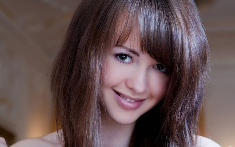 brunettes women close-up models faces wallpaper