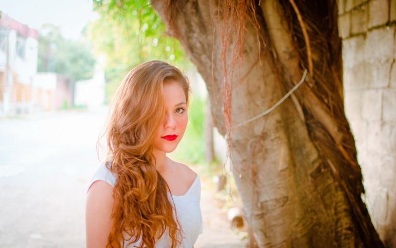 redheads face eyes mood women females girls babes hair models lips lipstick wallpaper