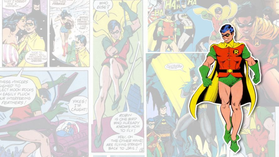 Robin Batman DC-comics superhero wallpaper