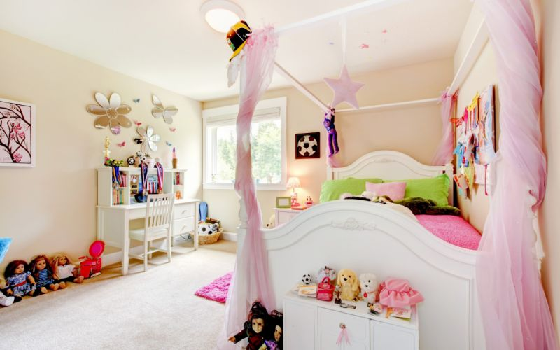 Room Children Toys Comfort Doll Bed Pillows Interior