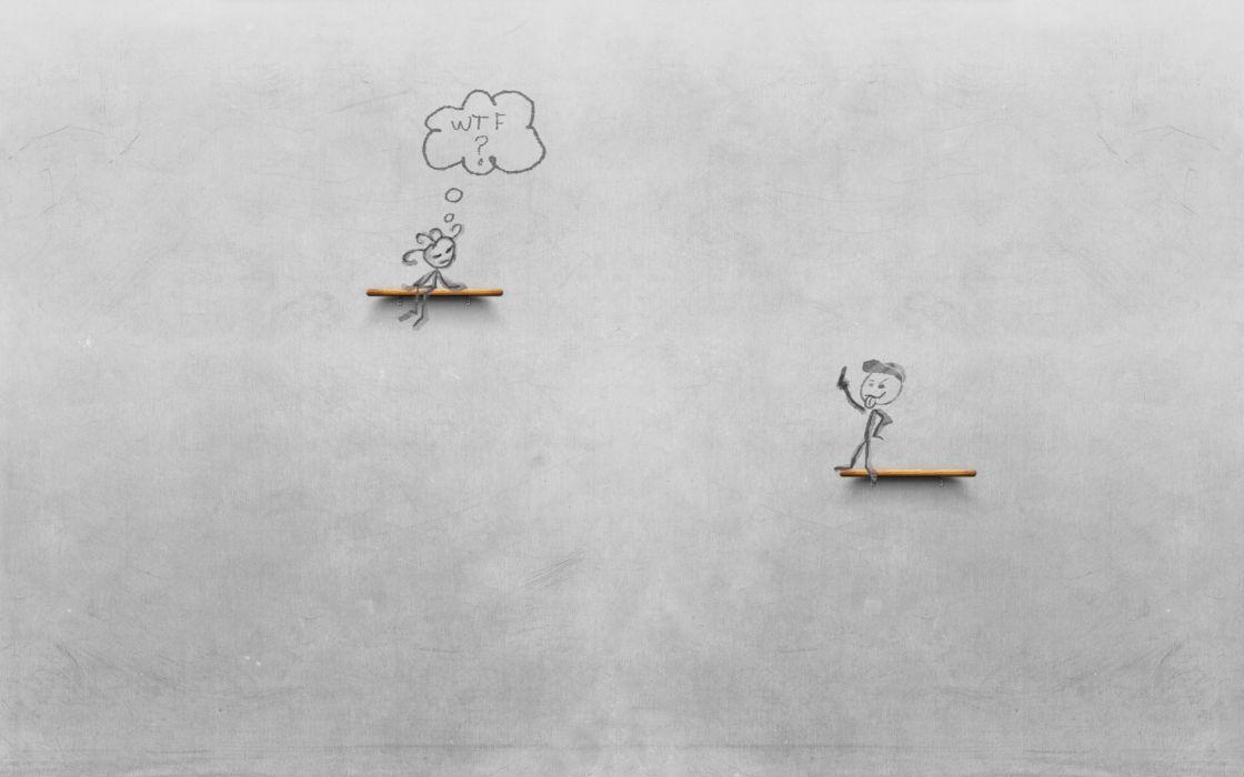 light cartoons dock gray WTF drawings chalk wallpaper