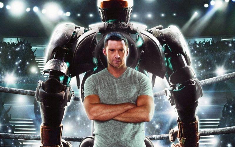 movies robots men actors Hugh Jackman Real Steel wallpaper