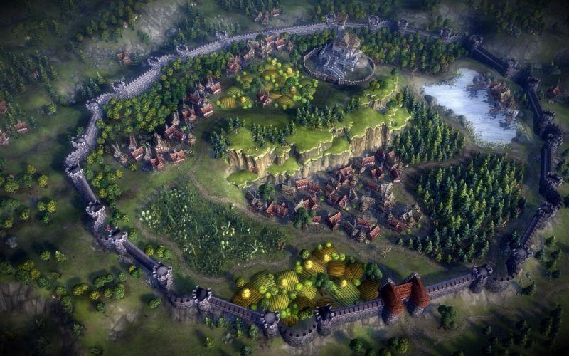 castles town video game art Eador: Masters Of The Broken World wallpaper