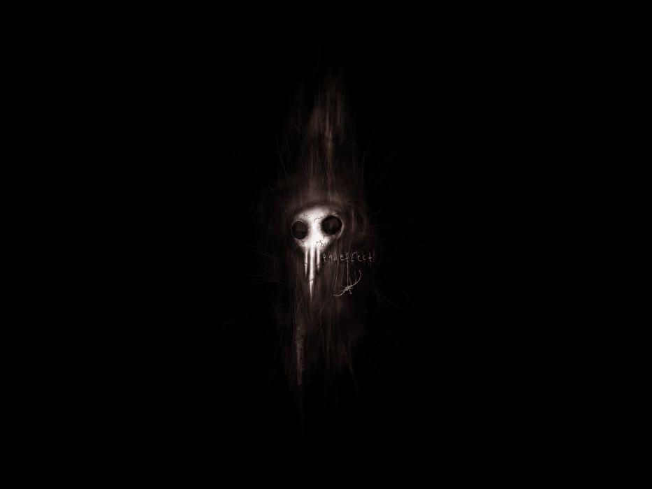 skull face dark horror creepy wallpaper