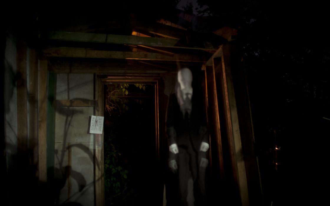 Slender Man Creepy dark horror videogames wallpaper