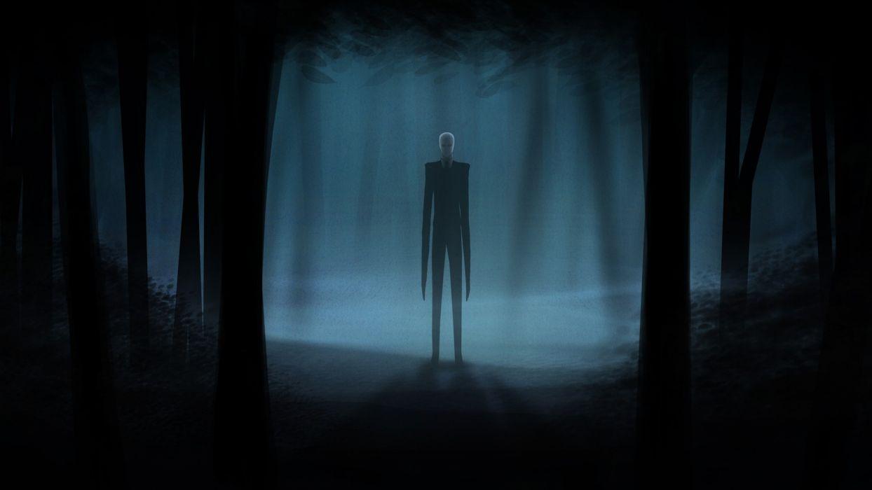 Slender Man Creepy Dark Videogames Dark Horror Trees Forest