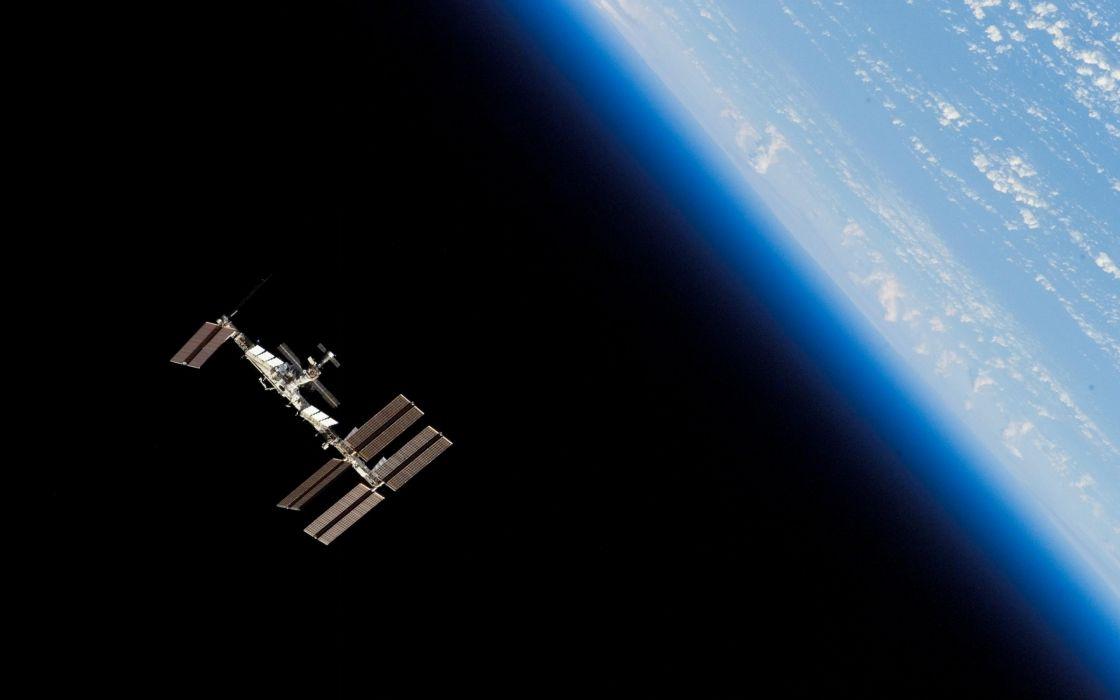 space orbit planet earth mech station wallpaper