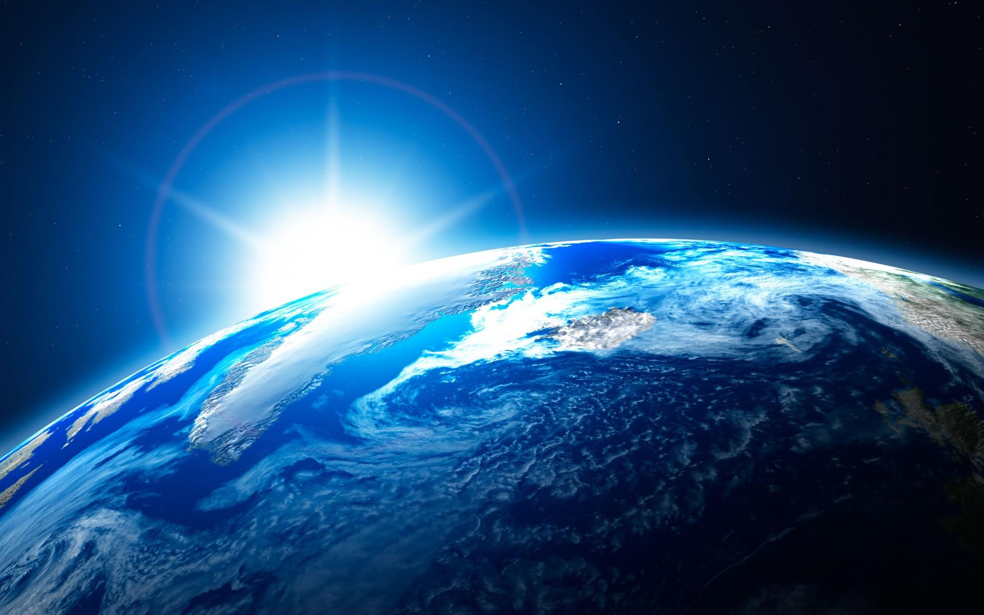 Обои Звездное небо над землей картинки на рабочий стол на тему Космос - скачать  № 1768299 бесплатно