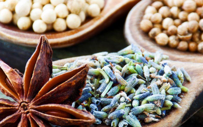 spices bowls star anise still life wallpaper