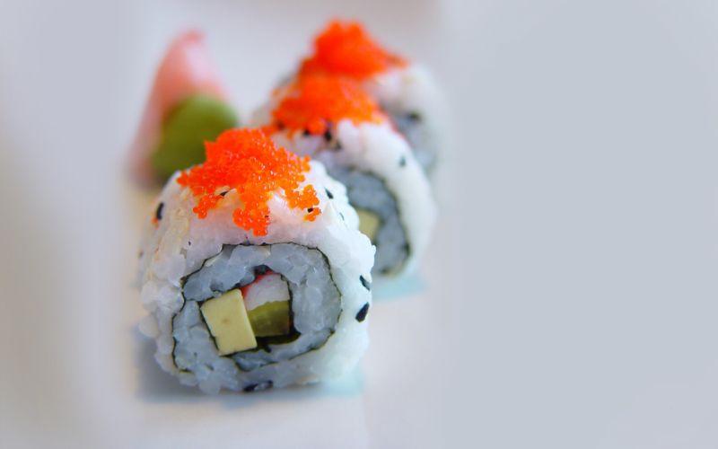 food sushi Maki roll wallpaper
