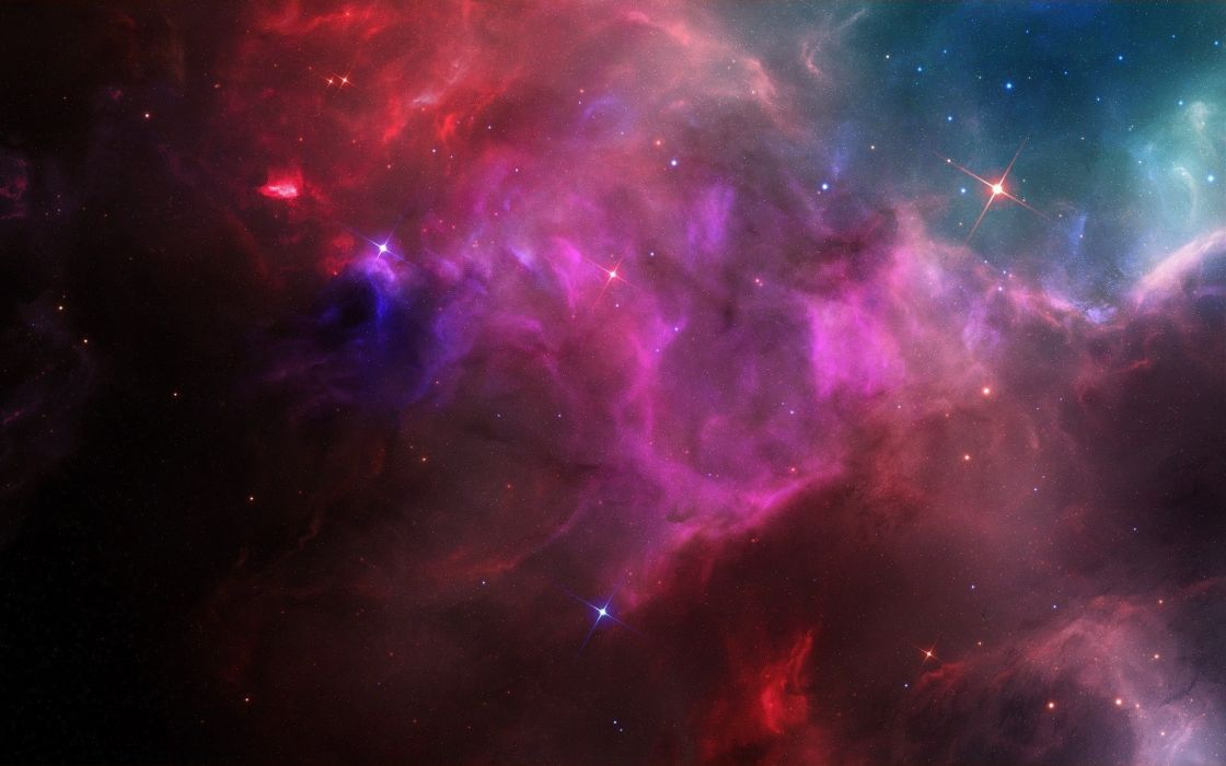 outer space stars galaxies nebulae wallpaper