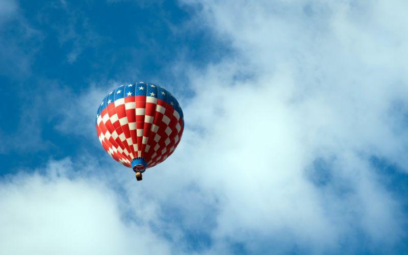 clouds hot air balloons skies wallpaper