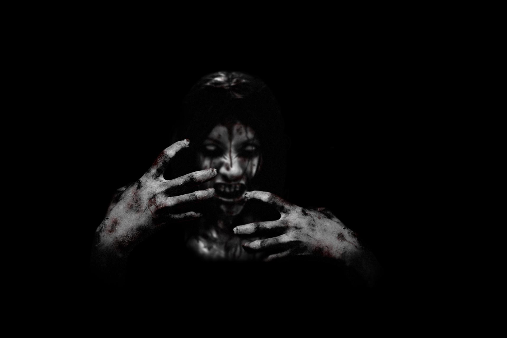 the house creepy black movies demon blood face dark horror
