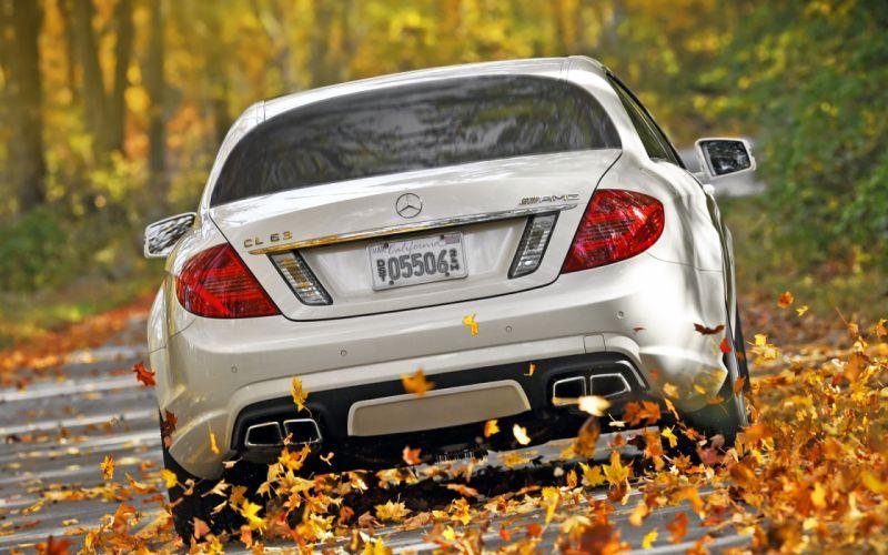 cars Mercedes-Benz Mercedes Cl 63 fallen leaves wallpaper