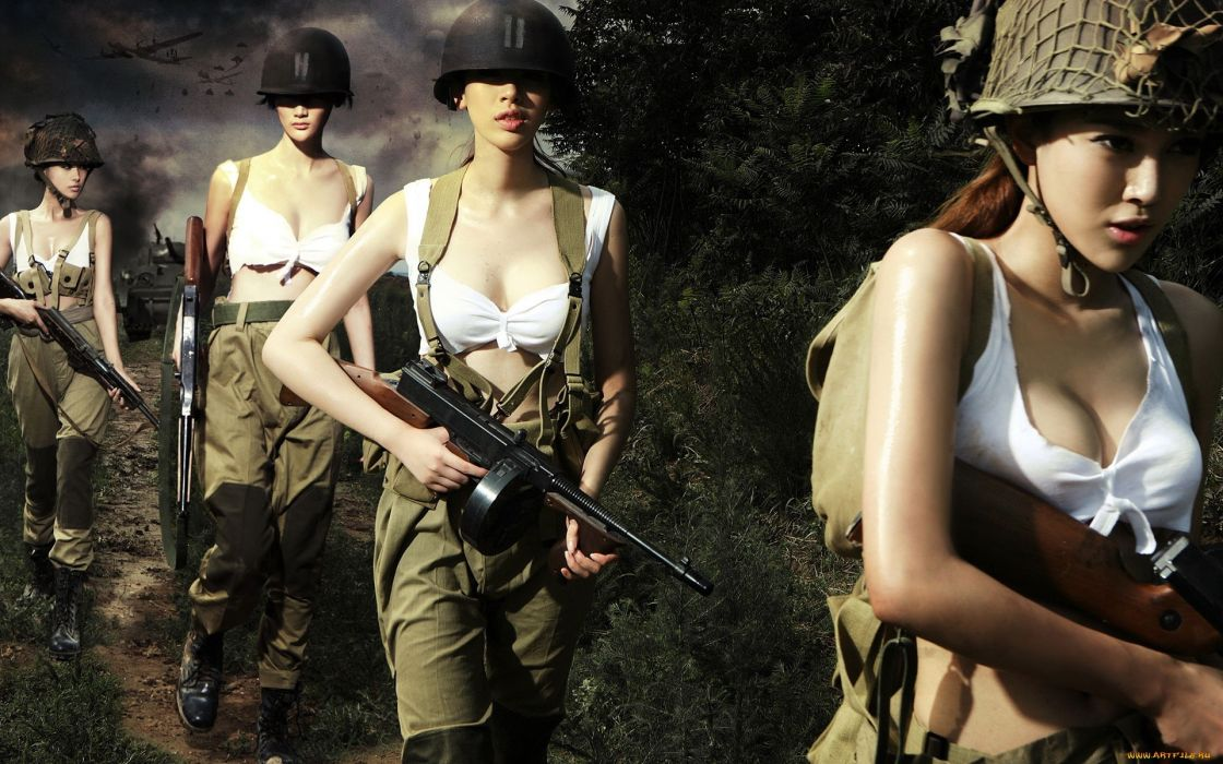 war-fy war girls guns machine weapons movies military soldiers women females girls sexy babes cleavage wallpaper