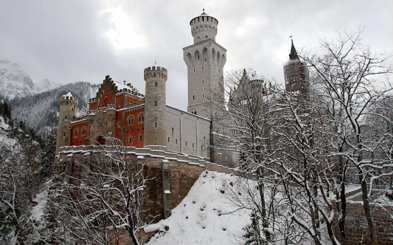 winter castles wallpaper