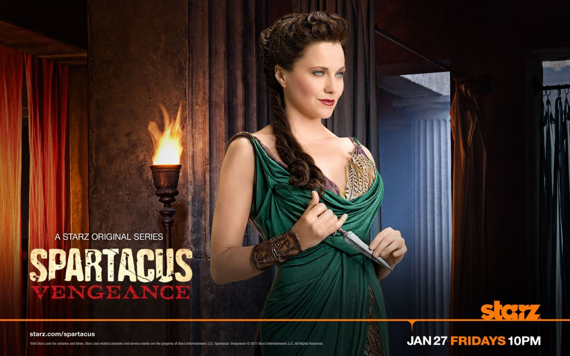 actress Lucy Lawless series Spartacus Vengeance wallpaper
