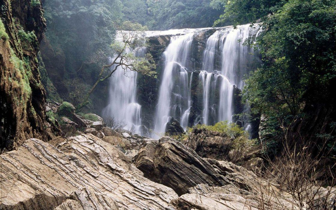 nature waterfalls wallpaper