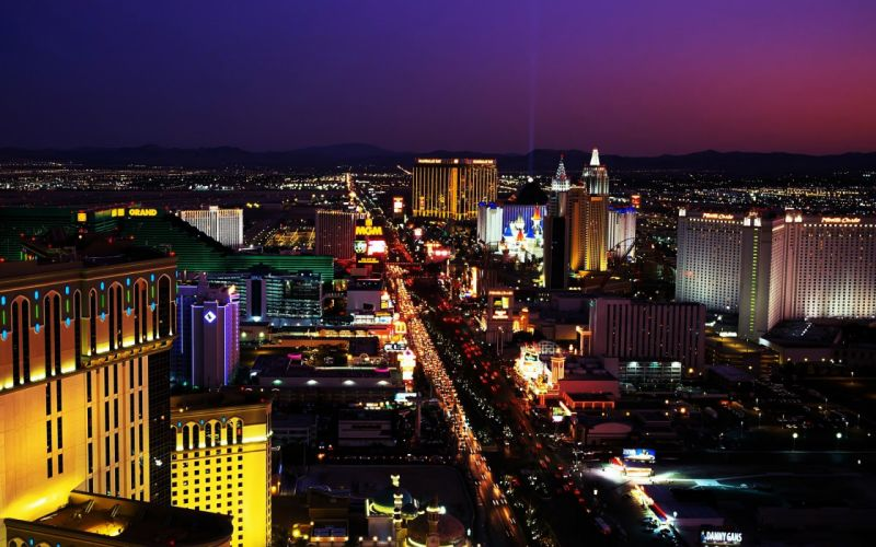 cityscapes Las Vegas buildings wallpaper