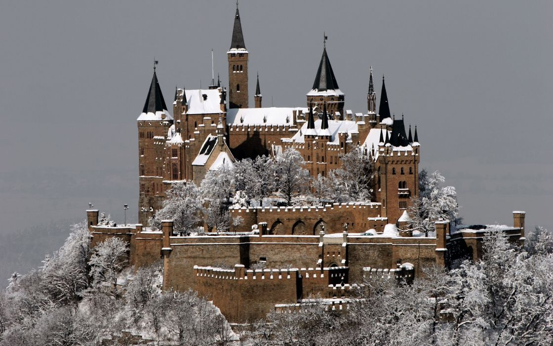 winter castles Complex Magazine Hohenzollern Castle wallpaper