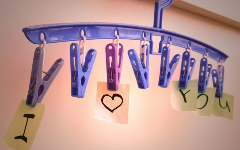 love clothespin Marker stickers wallpaper