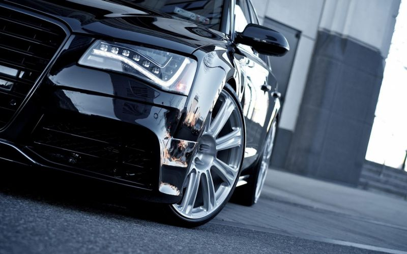 black cars sports coupe Audi A8 Hybrid wallpaper