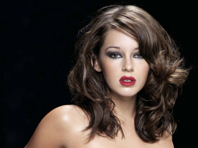 women Keeley Hazell lips expressionism faces black background wallpaper