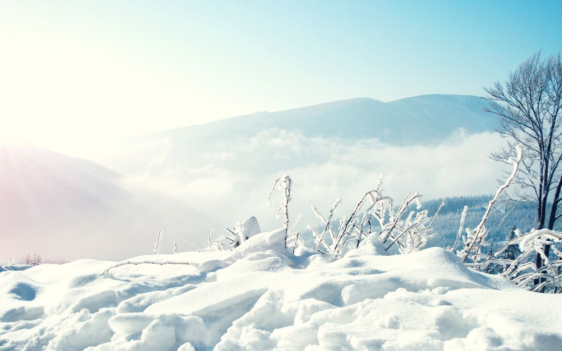 mountains winter snow nordic wallpaper