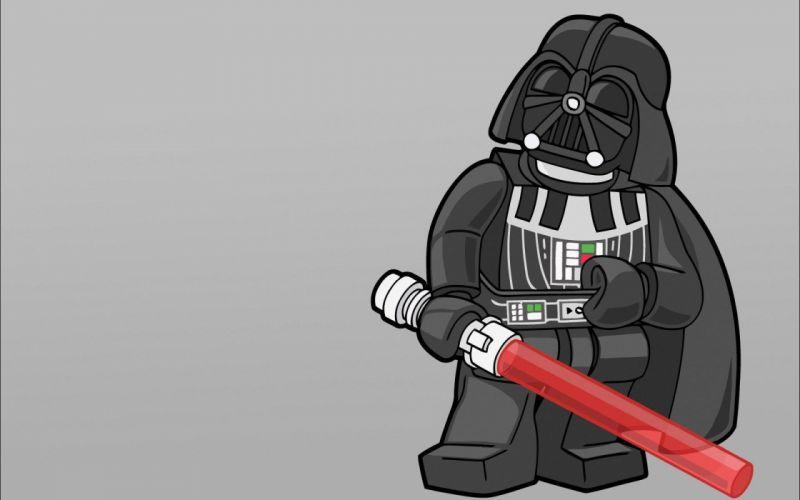 Star Wars minimalistic Darth Vader artwork Lego Star Wars Legos wallpaper