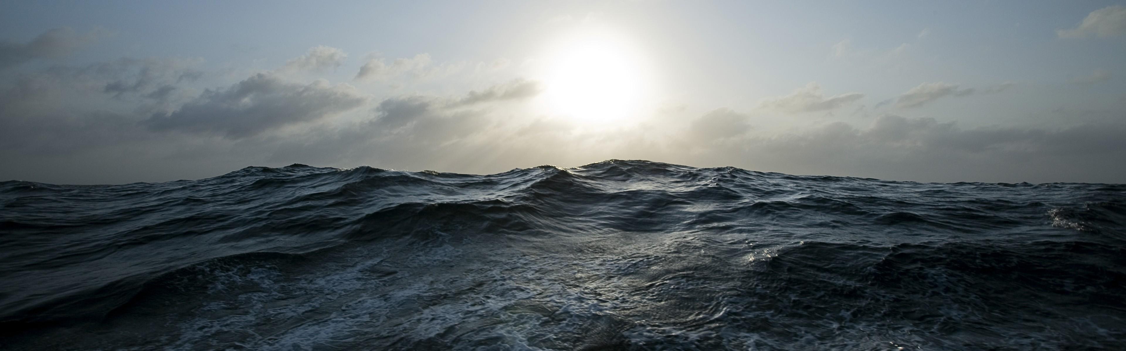 Water Sun Panorama Seascapes Wallpaper 3840x1200 56576