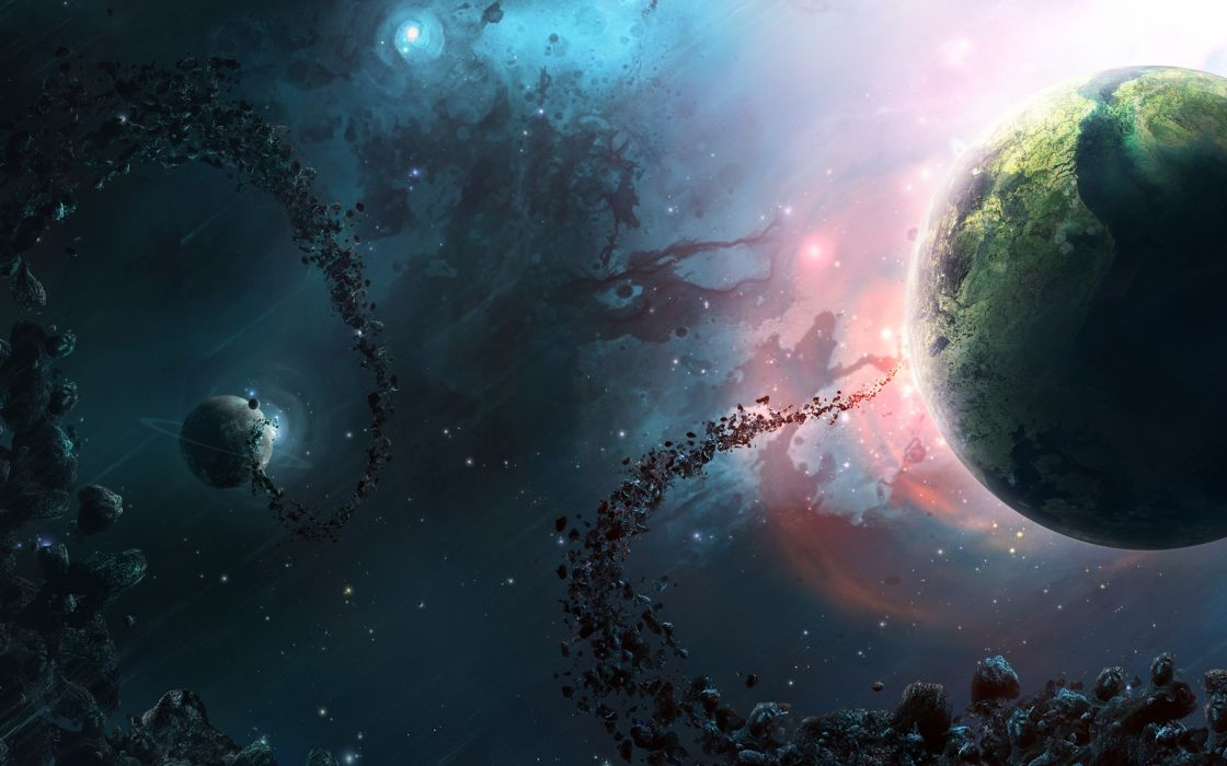 stars planets future DeviantART space art skyscapes wallpaper