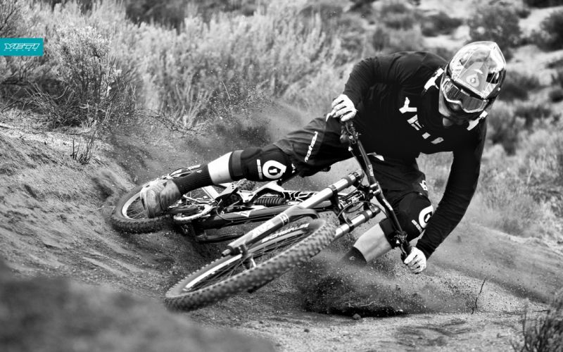 bank downhill mountain bike wallpaper