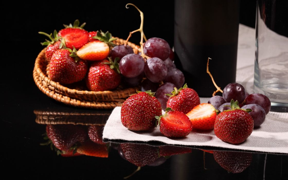food strawberries wallpaper