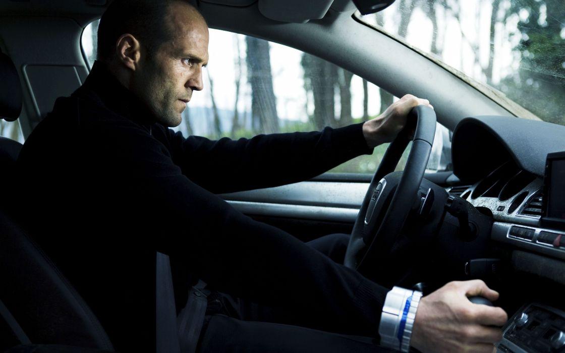 movies men Jason Statham actors car interiors Audi A8 The Transporter wallpaper