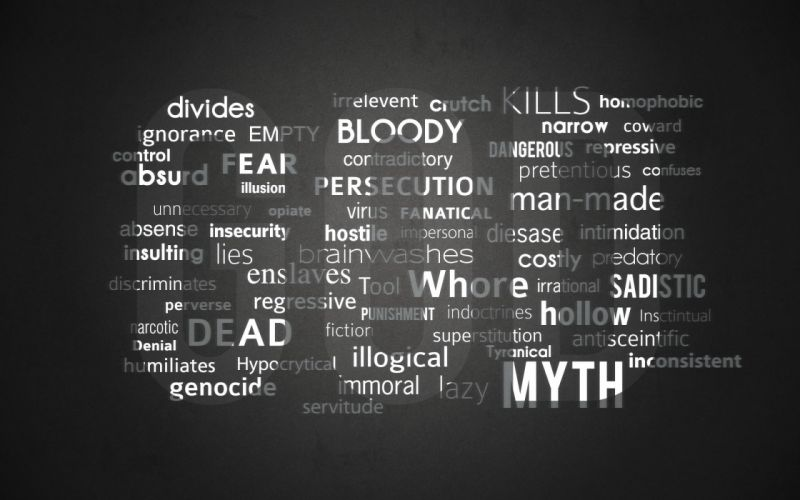 text God typography atheism wallpaper