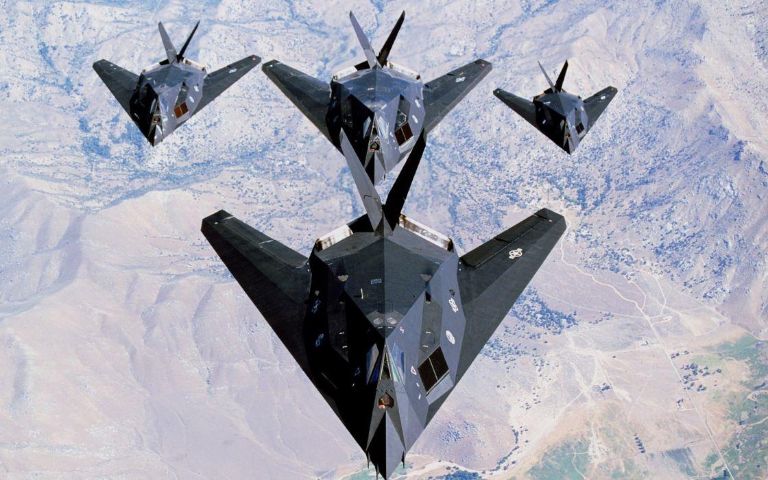 aircraft military US Air Force Lockheed F-117 Nighthawk wallpaper