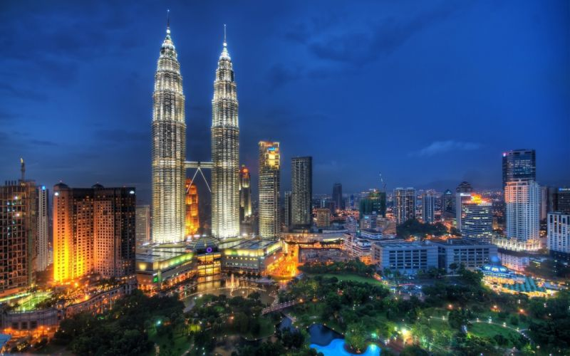 cityscapes tower Malaysia Petronas Towers wallpaper