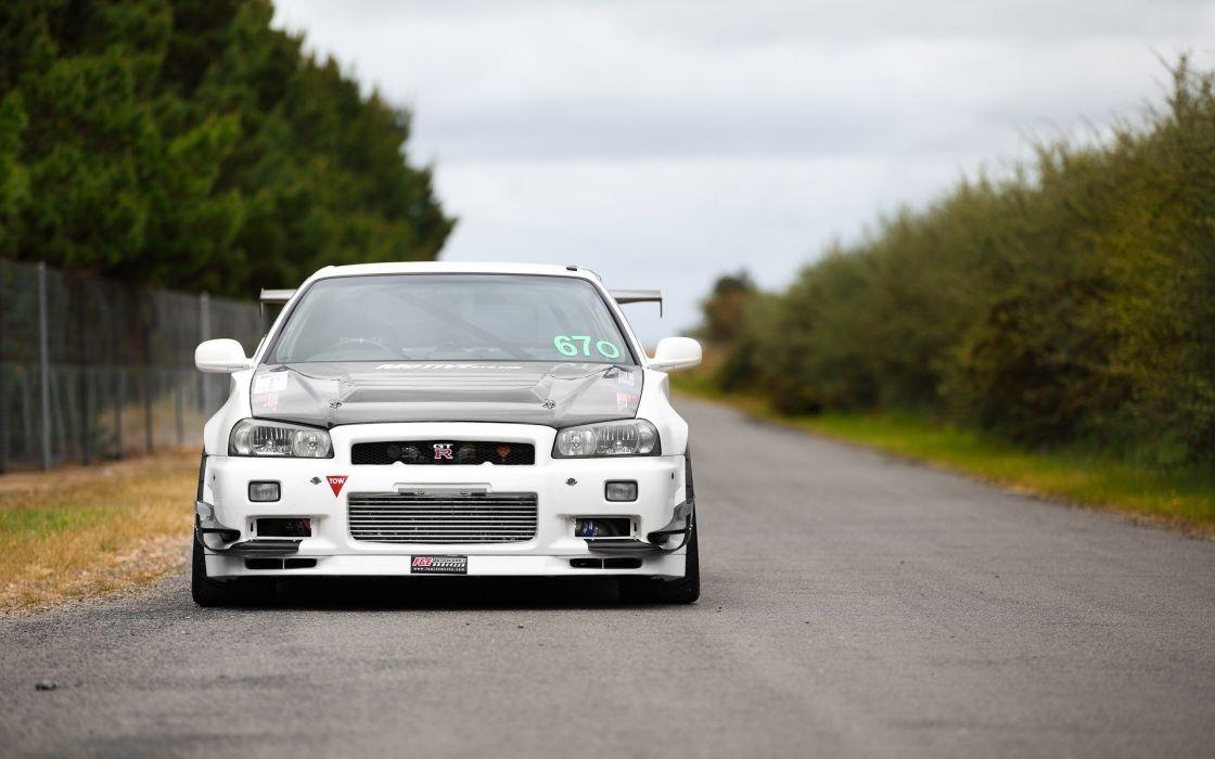 cars Nissan tuning Nissan Skyline time attack GTR wallpaper