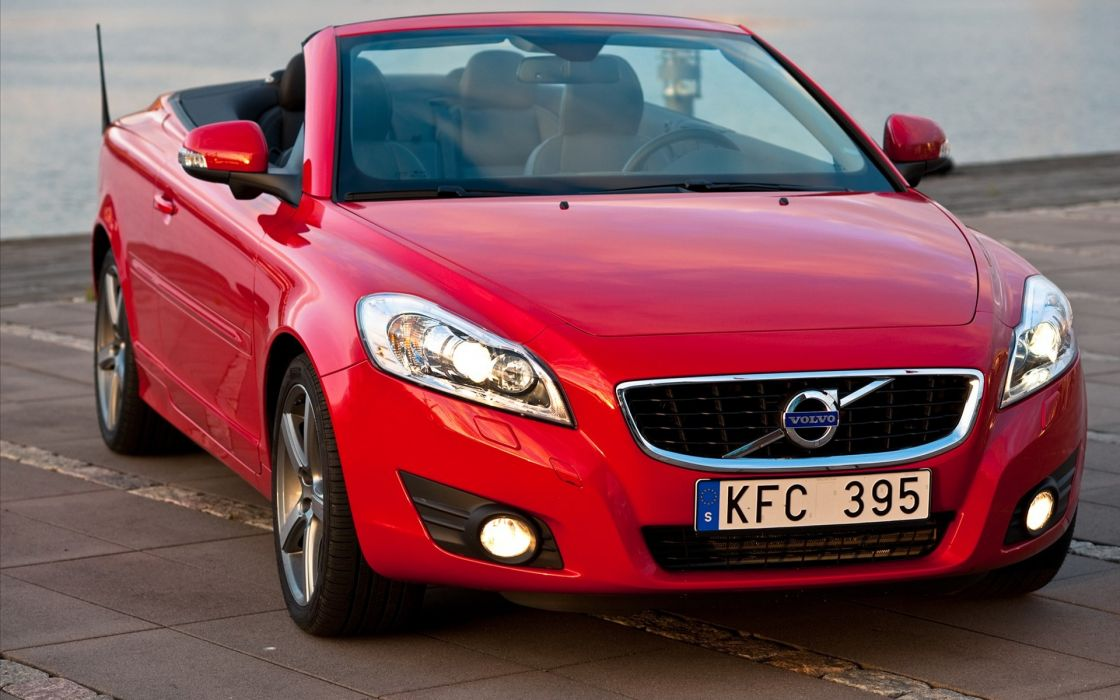 red cars Volvo vehicles wallpaper