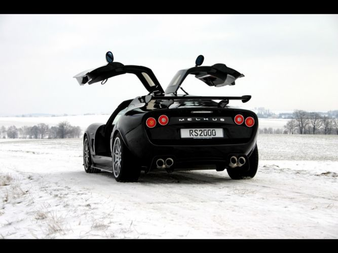snow open doors Black edition Melkus RS2000 automobiles wallpaper