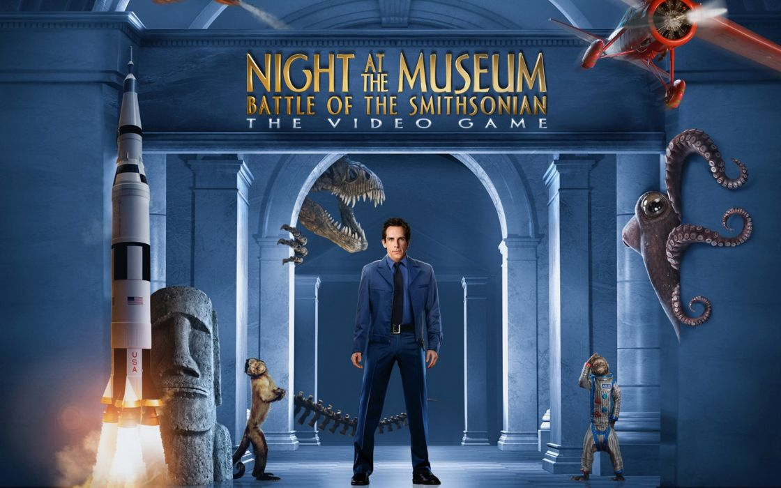 video games movies night battles Ben Stiller Night at the Museum: Battle of the Smithsonian games wallpaper