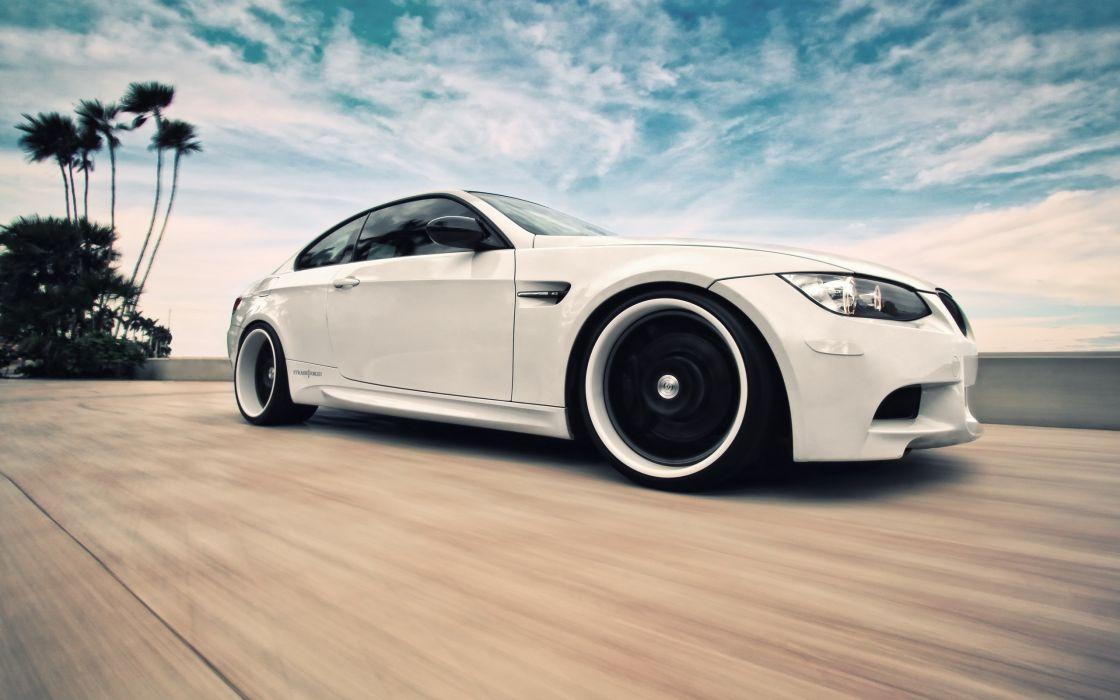 white cars BMW M3 wallpaper